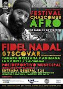 """La Diáspora Africana de la Argentina invita a participar del """"Festival . afiche chascomus afro internet"""