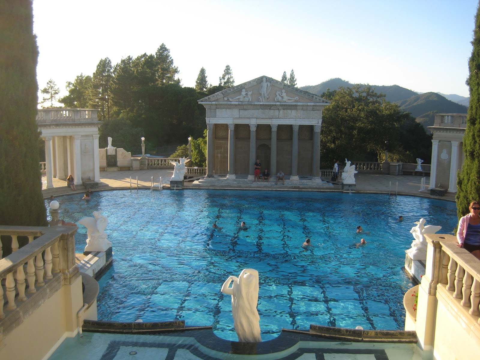 On Swimming At Hearst Castle In A Time Of Economic Protest