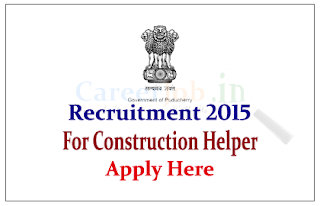 Electricity Department Government of Puducherry Recruitment 2015 for the post of Construction Helper
