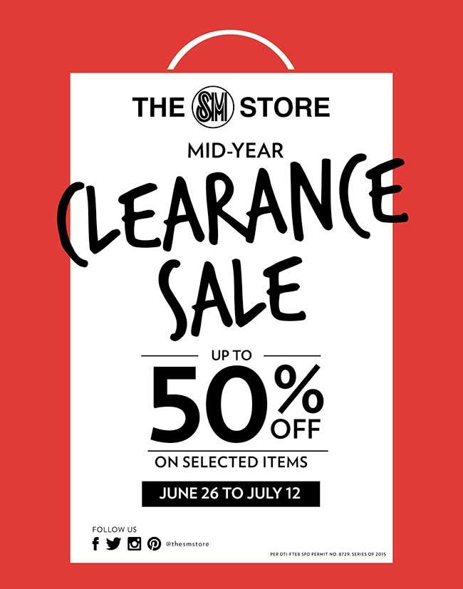 Manila Shopper: SM Stores Mid-Year Clearance SALE: June-July 2015