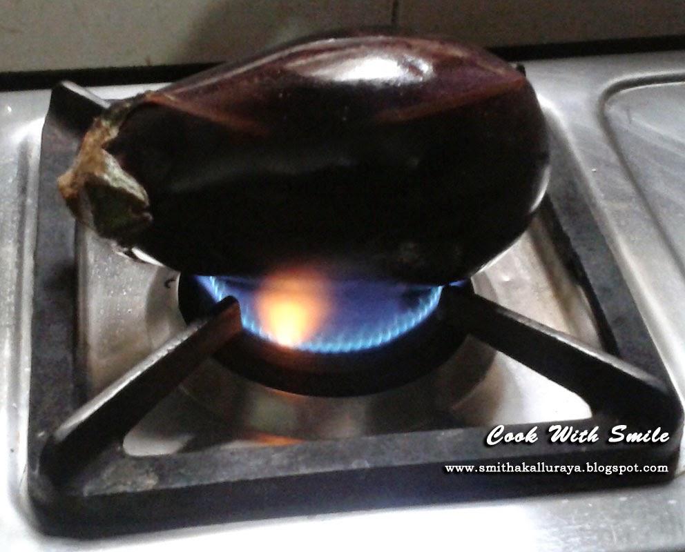 ... ,punhabi baingan bharta,punjabi baingan ka bharta,smoky eggplant mash