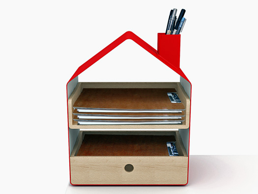 desk tidy with clock. Each desk tidy come in either