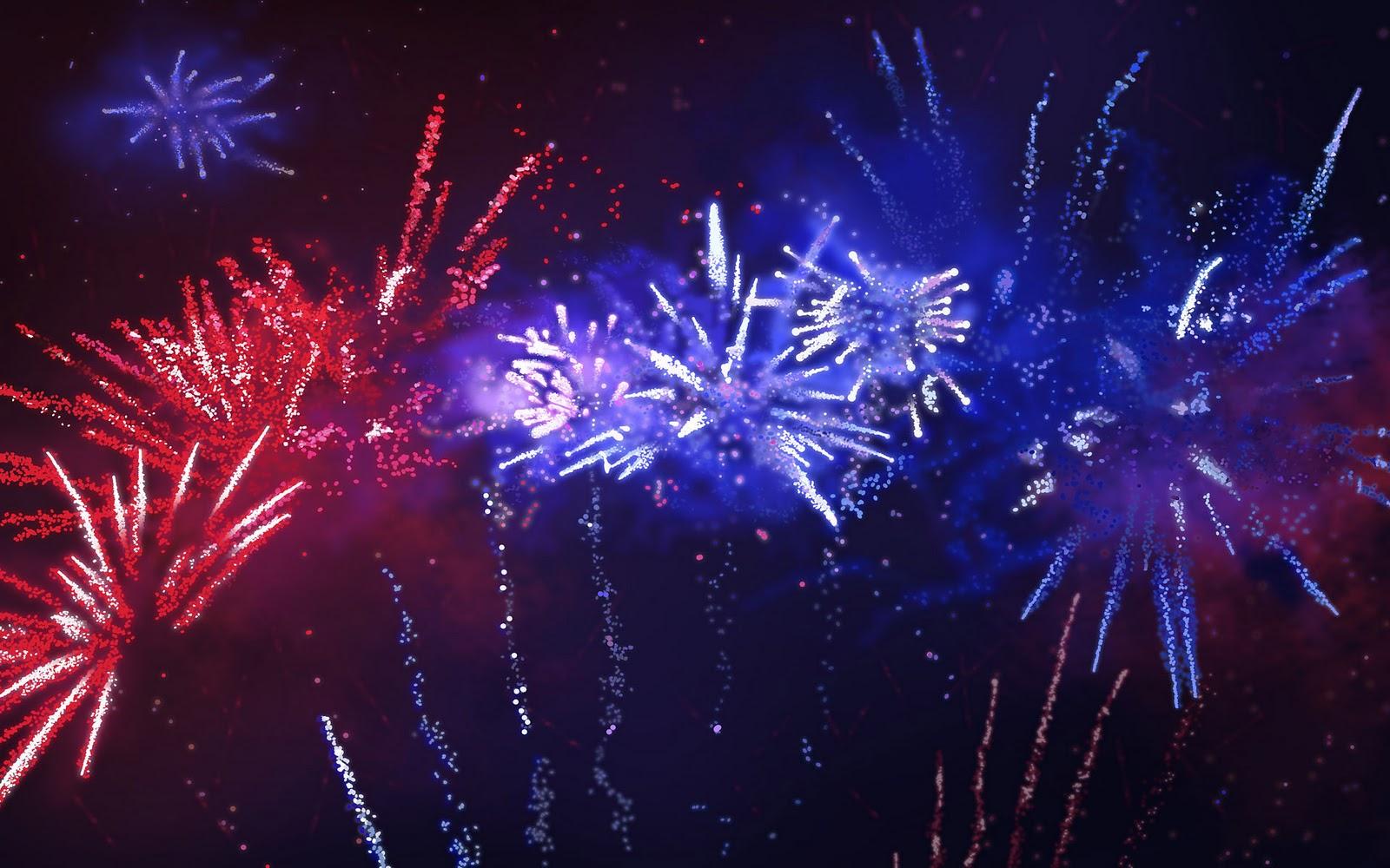 Wallpaper vol vuurwerk foto met vuurwerk roze en blauwe lichten