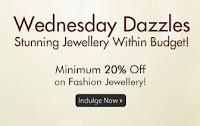 Homeshop18 offer :Minimum 20% Off at Jewellery