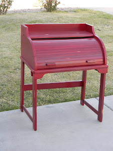 Little Red Rolltop Desk  *SOLD*