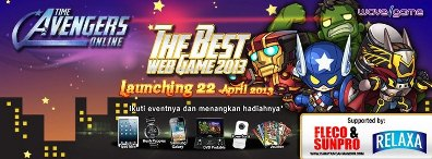 Launching Game Online Time Avengers