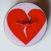 Enamel broken heart brooch by Janet Haigh