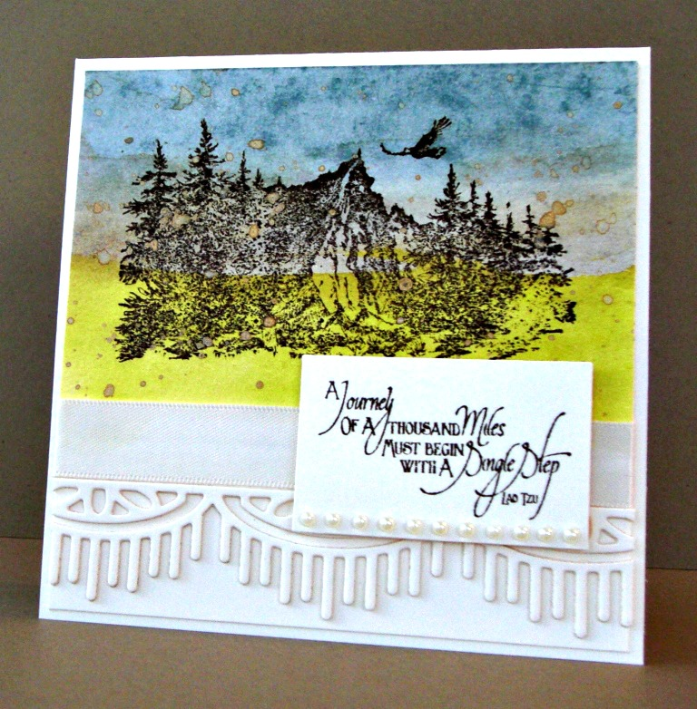 Stamps - Our Daily Bread Designs Keep Climbing, Mountains, ODBD Custom Beautiful Borders Dies