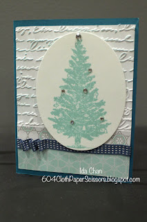 Special Season Christmas card by Ida Chan #StampinUp Vancouver
