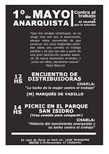 Acto anarquista contra el trabajo y el mundo que lo necesita el 1º de mayo en Madrid