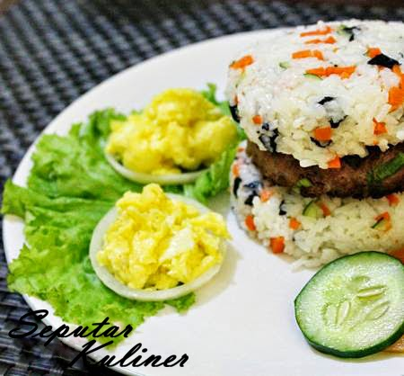 Resep dan Cara Membuat Vegetable Rice Bulgogi Burger