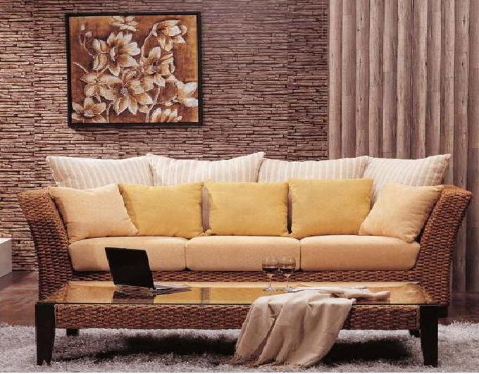 Furnitures modern living room design images for Wicker living room furniture
