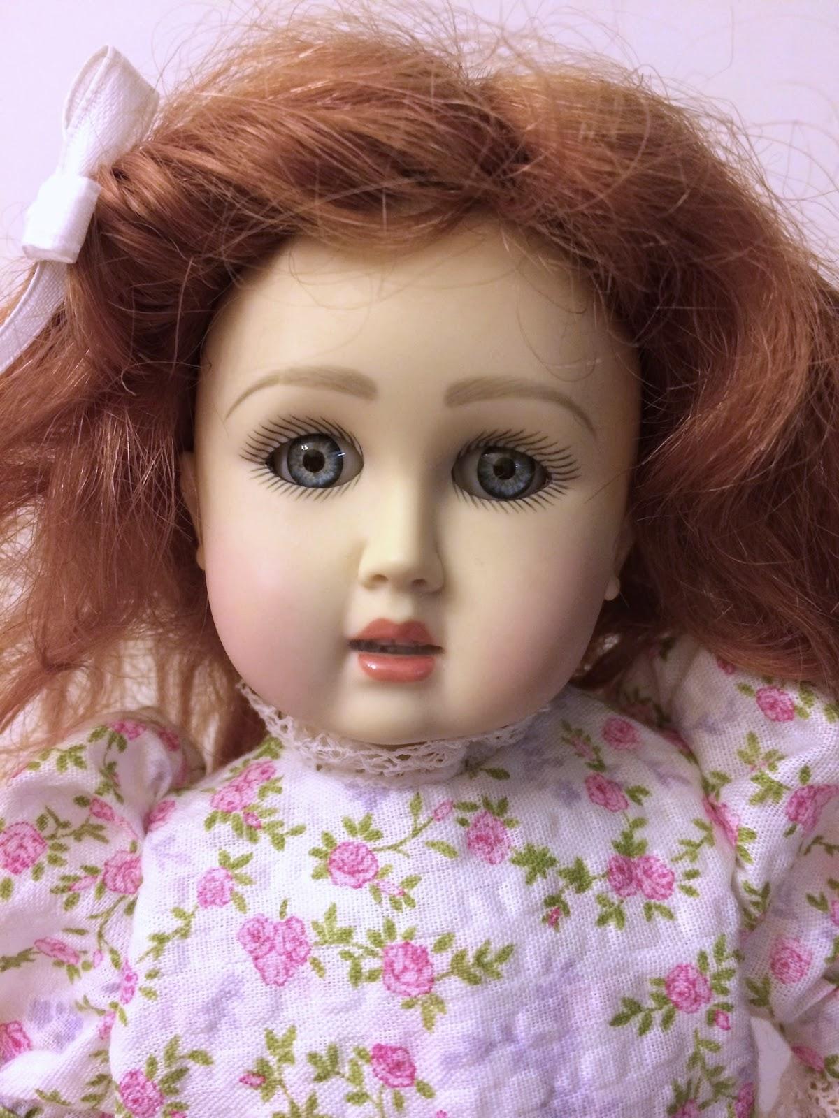 """Ruby Red Galleria Bleuette 11.5/"""" handpainted resin bjd random wig /& undies NEW"""