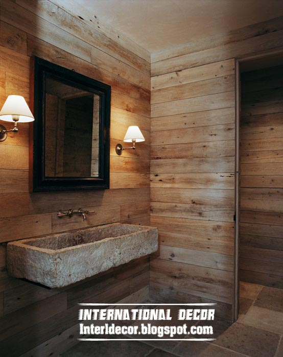 Wooden Bathroom Wall Design