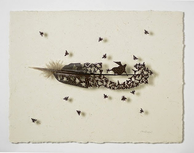 art of cutting feather