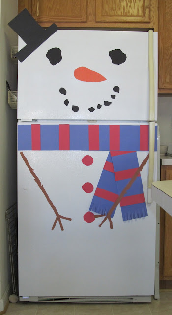 christmas refrigerator decor