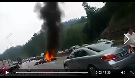 VIDEO KEMALANGAN MAUT DAN NGERI DILEBUHRAYA KARAK 19 10 2014