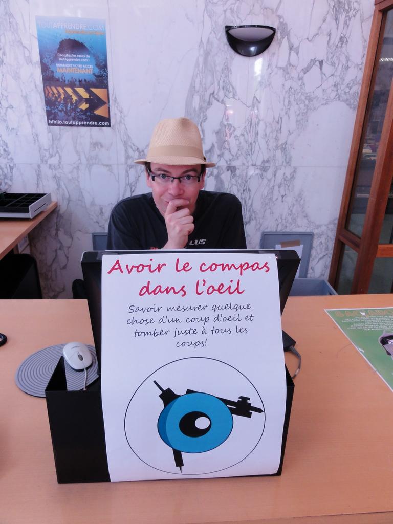 Avoir le compas dans l'oeil , savoir mesurer quelque chose d'un coup d'oeil et tomber juste à tous les coups !