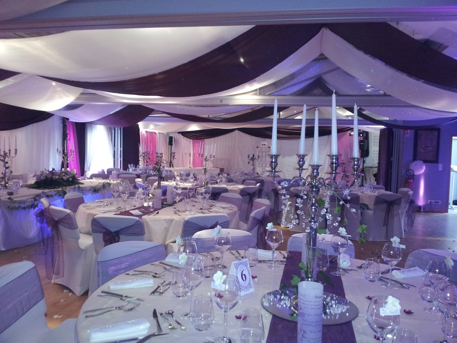 Tentures mariage tentures salles mariages - Decoration mur salle mariage ...