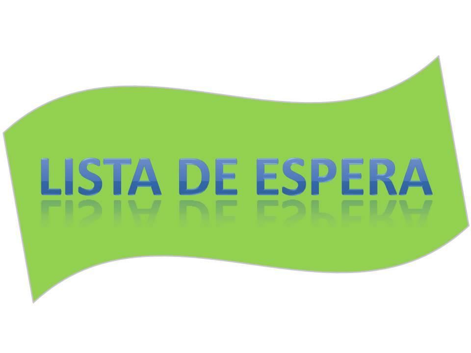 Resultado de imagen de LISTA DE ESPERA