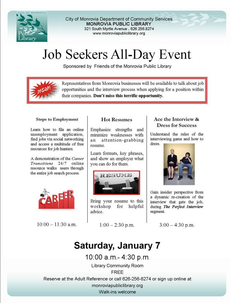 my monrovia business seekers event on jan 7