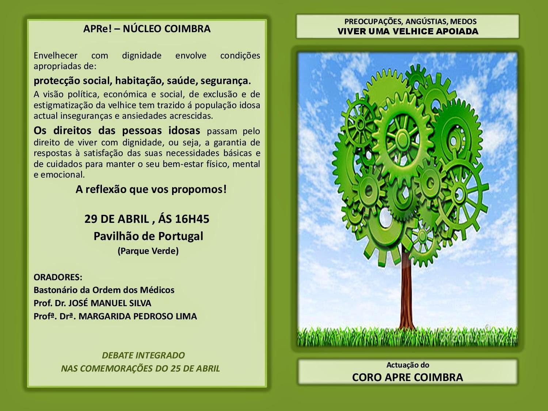 """Coimbra, debate """"Preocupações, Angústias e Medos - Viver uma Velhice Apoiada"""""""