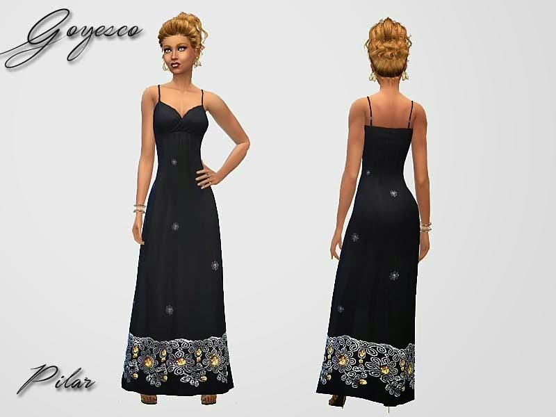 06-05-2015  Vestido largo Goyesco