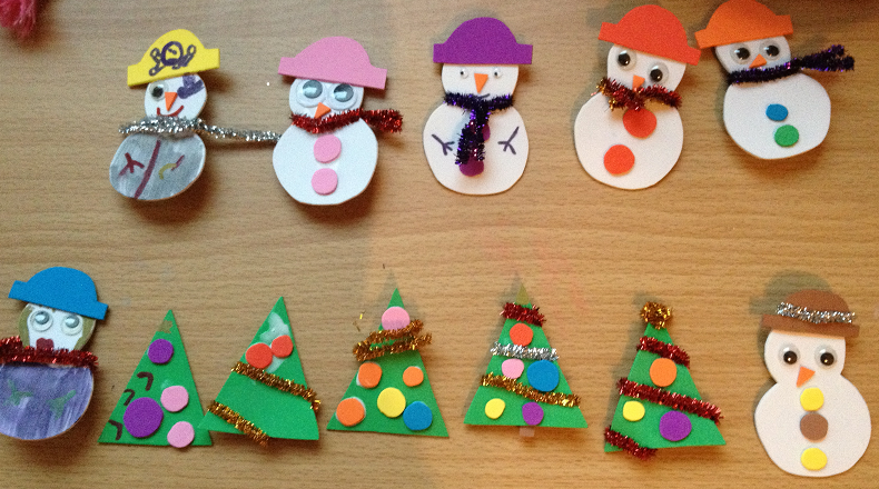 Jennifer joyce writes christmas crafts foam snowmen for Foam sheet christmas crafts