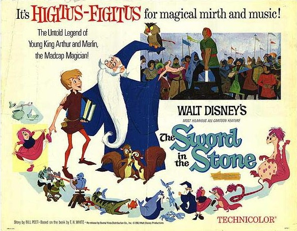 Original film poster Sword in the Stone animatedfilmreviews.blogspot.com