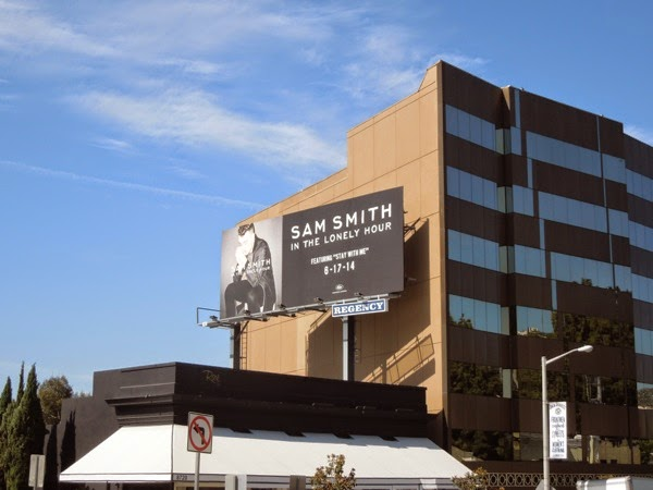 Sam Smith In the Lonely Hour billboard Sunset Strip