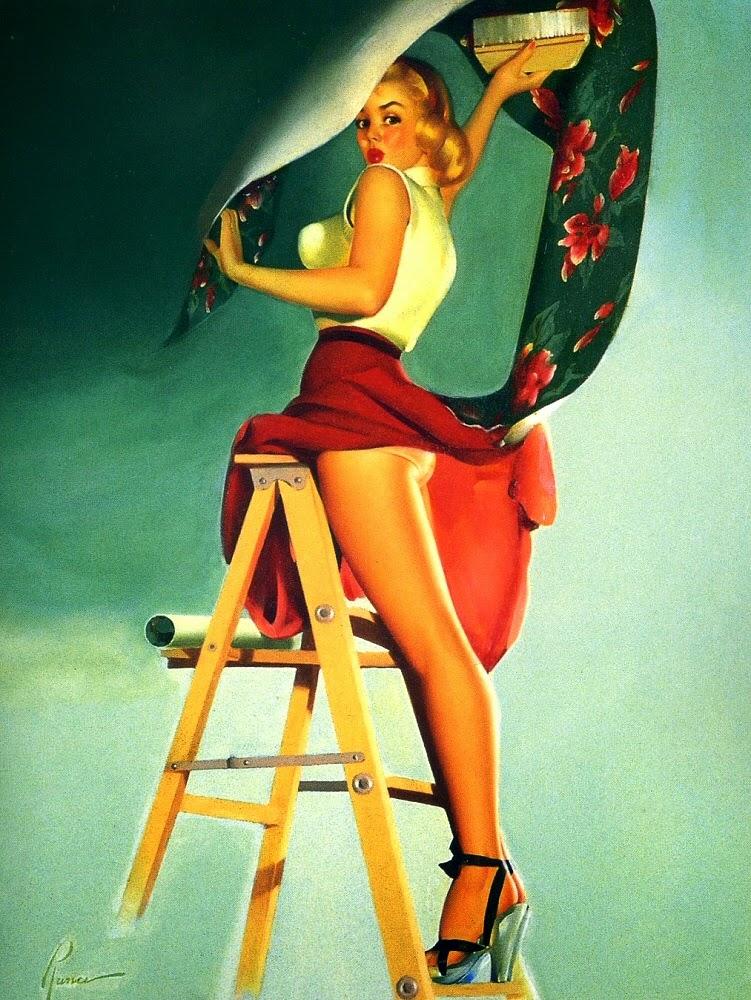 pintura pin-up - Edward Runci