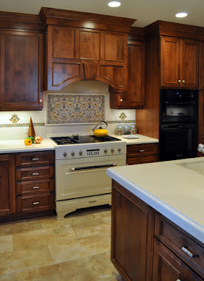 Limestone Was Used For Both The Decorative Tiles And Plain Throughout Backsplash Click On Any Of These Pictures To See A Larger Version
