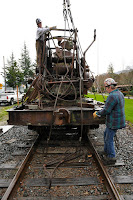 Front of steam crane