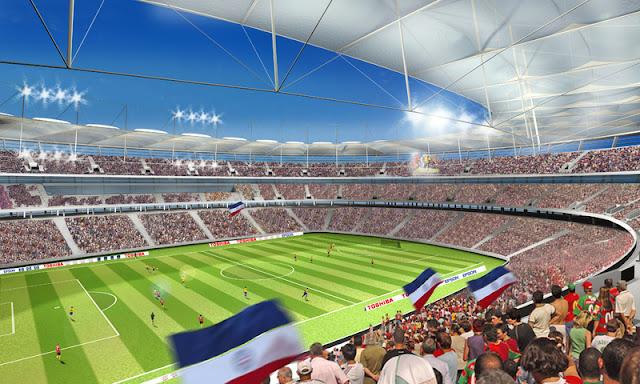 Vistas das arquibancadas da Arena Fonte Nova