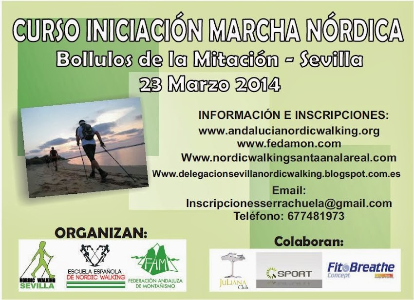 CURSO MARCHA NÓRDICA 23 MARZO DE 2014 - BOLLULLOS DE LA MITACIÓN 2014
