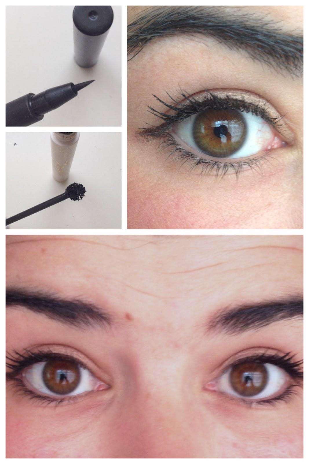 Eyeliner y máscara
