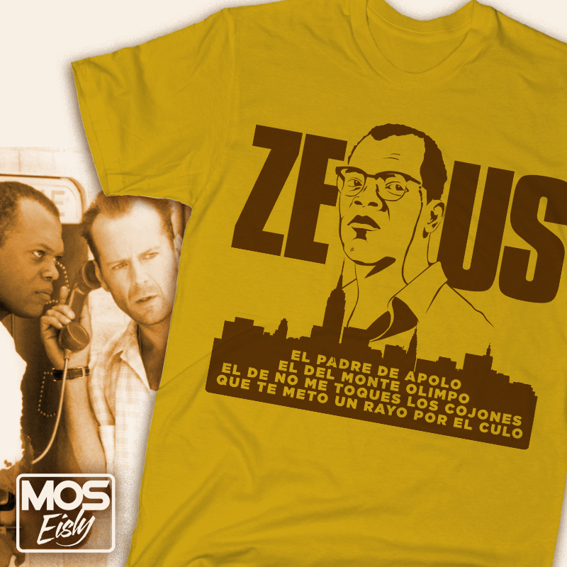 camiseta zeus jungla de cristal