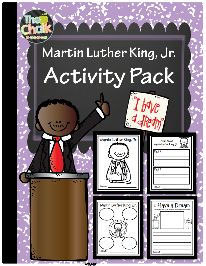 http://www.teacherspayteachers.com/Product/Martin-Luther-King-Jr-Activity-Pack-1625903