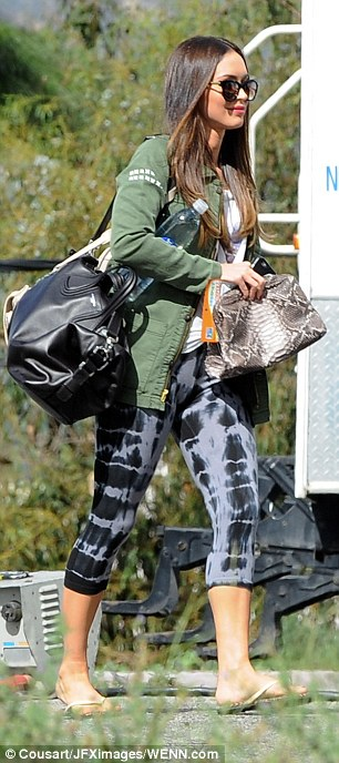 Megan Fox in Flat Waist Capri Legging