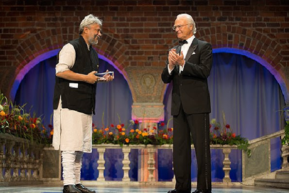 Rajendra Singh of India received Stockholm Water Prize