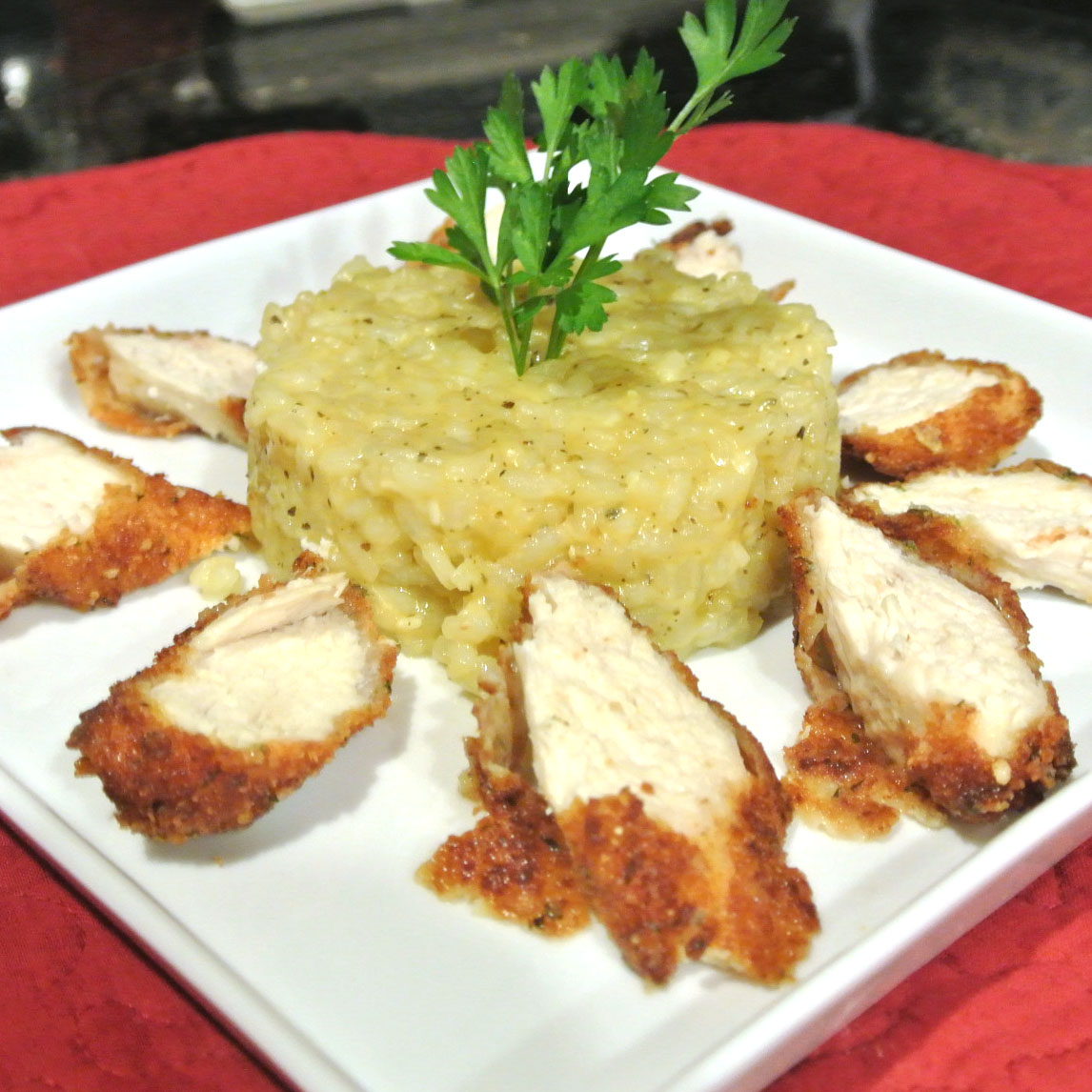 ... What's For Dinner?: Parmesan Crusted Chicken with Garlic Herb Risotto
