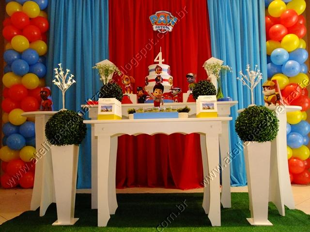 decoracao festa infantil patrulha canina : decoracao festa infantil patrulha canina:decoracao-festa-infantil-patrulha-canina-03.JPG