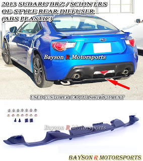 OE-Style Rear Diffuser (ABS) Fits 12-15 Subaru BRZ