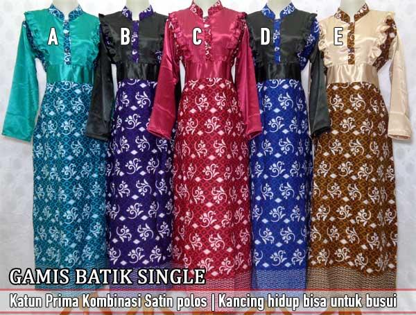 Modelbaju24 Model Baju Batik Kombinasi Terbaru