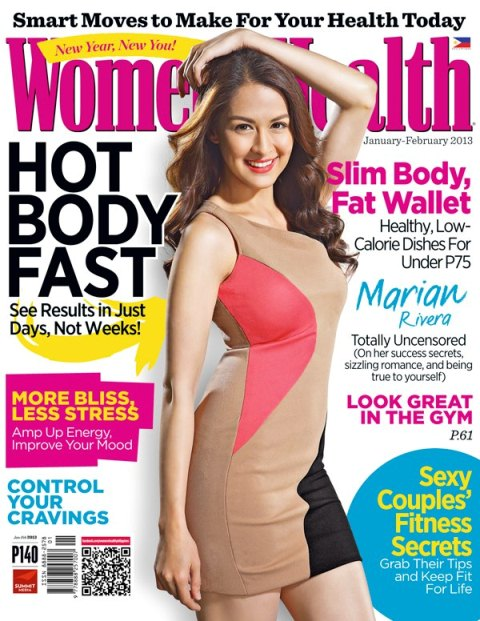 Marian Rivera Covers Women's Health PH January/February 2013 Issue