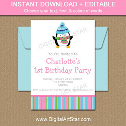 Shop: Winter Birthday Invites