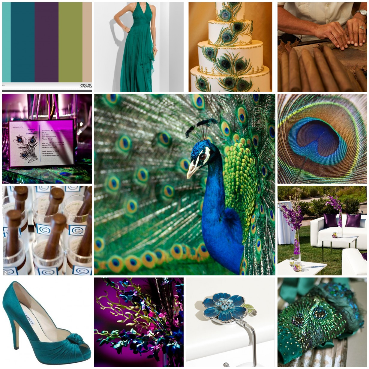 peacock theme wedding inspiration « Sparkling Events & Designs