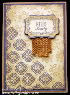 Vintage Hello Lovely Card by UK bases Stampin' Up! Demo Bekka - check her blog for other ideas with this stamp set