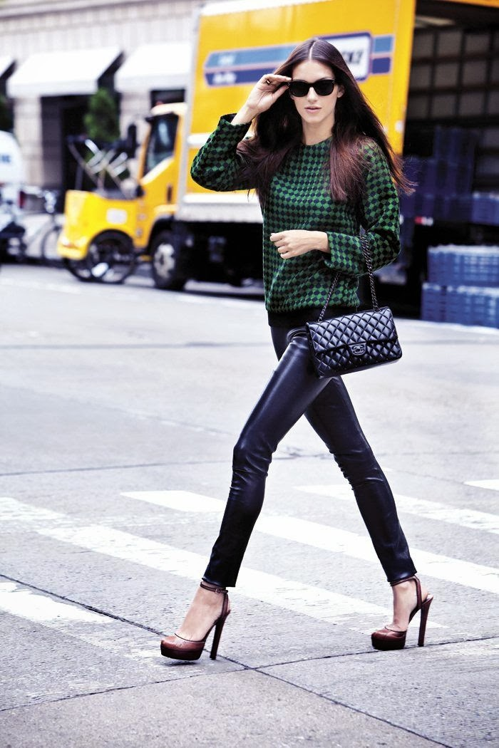 sweater purse leather pants sandals