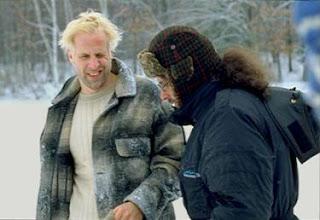 Peter Stormare en la filmacion de Fargo